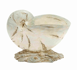 "Classy and Elegant 9"" Polystone Shell with Unique Design Brand Woodland"