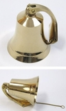 Classy and Elegant Solid Brass Bracket Bell in Brass Finish by IOTC