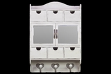 Classy and Elegant White Wooden Cabinet with Unique Design