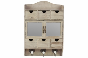 Classy and Exquisitely Designed Lovely Wooden Cabinet with Hooks by Urban Trends Collection