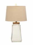 Classy and Stunning Glass Fillable Table Lamp by Woodland Import