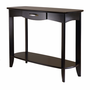 Classy and Stylish Danica Console Table with Single Drawer by Winsome Woods