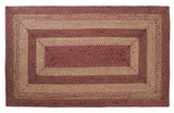 Classy and Timeless Burgundy Tan Jute Rug Rect by VHC Brands