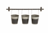 Classy and Trendy Metal Wall Planter by Woodland Import