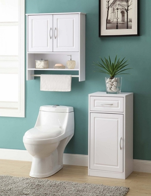 Classy and Unique Bathroom 2 Door Wall Cabinet by 4D Concepts