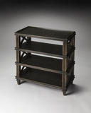 Classy Gately Black Crackled Tiered Console Table by Butler Specialty