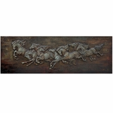 Classy Painted Horse Soldiers Styled Painting by Yosemite Home Decor