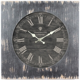 Classy Square Black Wooden Wall Clock with glass by Yosemite Home Decor