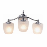 Classy Styled 3 Light Vanity Lighting in Chrome Frame by Yosemite Home Decor
