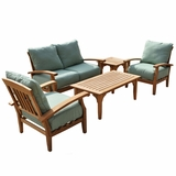 Classy Styled 5 Pcs Deep Seating Sofa Set by Southern Enterprises