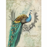 Classy Styled Adorable Peacock Poise I Painting by Yosemite Home Decor