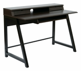 Classy Styled Arcadia Writing Desk in Dark Old wood Finish by Office Star