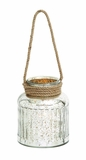 Classy Styled Attractive Glass Rope Lantern by Woodland Import