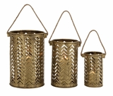 Classy Styled Attractive Metal Candle Lantern by Woodland Import