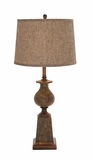 Classy Styled Attractive Polystone Table Lamp by Woodland Import