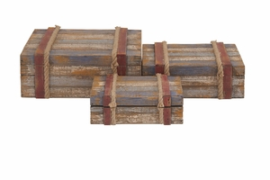 Classy Styled Attractive Wood Rope Box by Woodland Import