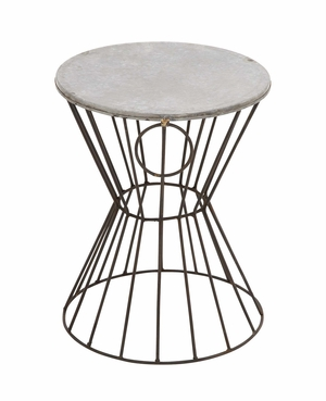 Classy Styled Beautiful Metal Stool by Woodland Import