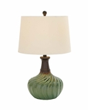 Classy Styled Ceramic Table Lamp by Woodland Import