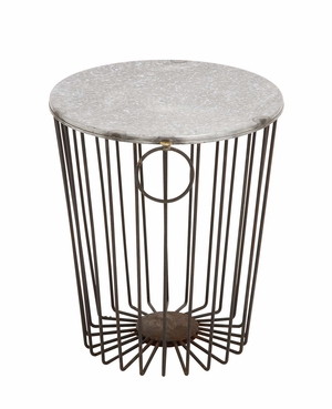 Classy Styled Fascinating Metal Wire Stool by Woodland Import