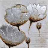 Classy Styled Frosted Petals II Adorable Painting by Yosemite Home Decor