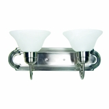 Classy Styled Gorgeous piece of 2 Lights Vanity Lighting in Satin Nickel Finish by Yosemite Home Decor