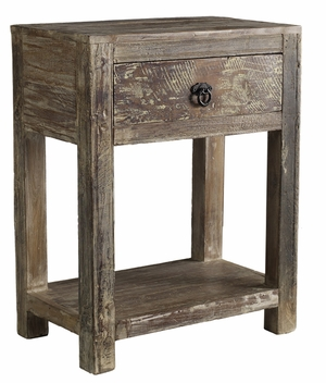 Classy Styled Hampton 1 Drawer End Table