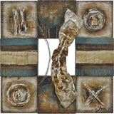 Classy Styled Lustrous Metal I Beautiful Painting by Yosemite Home Decor