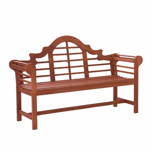 Classy Styled Lutyens Bench Dark Brown by Southern Enterprises