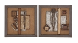 Classy Styled Metal Wall D�cor 2 Assorted by Woodland Import