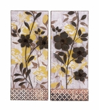 Classy Styled Metal Wall D�cor Two Assorted by Woodland Import