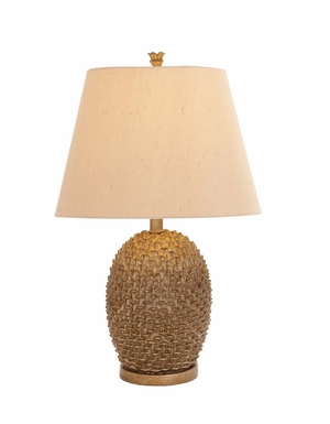 Classy Styled Polystone Metal Table Lamp by Woodland Import