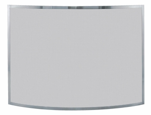 Classy Styled Single Panel Curved Pewter Screen