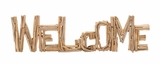Classy Styled Striking Driftwood Welcome by Woodland Import