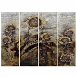 Classy Styled Sunflowers Painting by Yosemite Home Decor