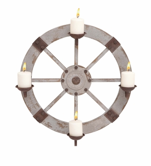 Classy Styled Wood Metal Candle Sconce by Woodland Import