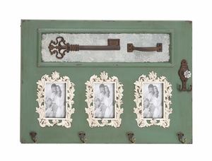 Classy Styled Wood Photo Wall Hook by Woodland Import