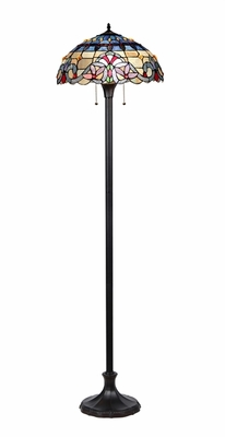 Classy Tiffany- Styled Multihued Floor Lamp by Chloe Lighting