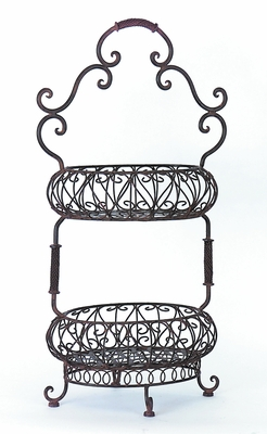 Classy Two-Tiered Oval Baskets