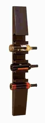 Classy Wood Wine Rack Crafted with Fine Detailing in Rich Brown Brand Woodland