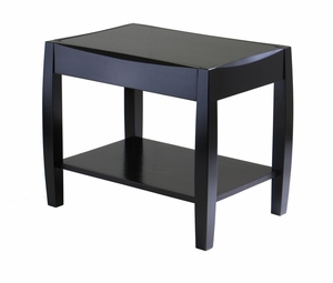 Cleo Rectangular End Table with Shelf Below by Winsome Woods