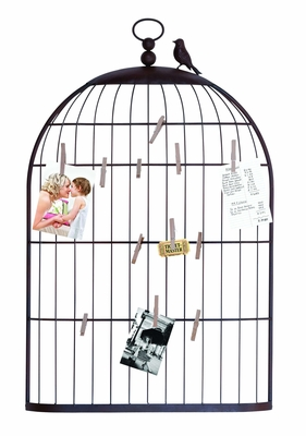 Clever And Crafty Photo Holder As a Charming Bird Cage Brand Woodland