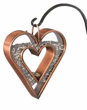 Heart Fly-Thru Bird Feeder - Venetian Bronze by Good Directions