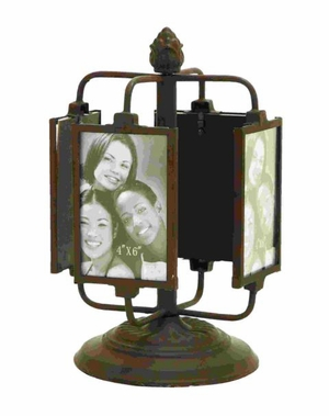 Clever Rotating Photo Frame Decor In Bronze Alloy Brand Woodland