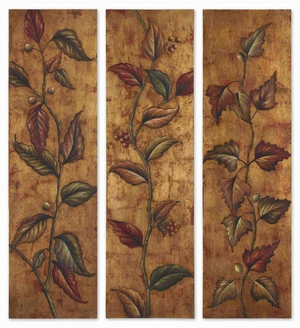 Climbing Vine Wall Decor in Earth Tone Color - Set of 3 Brand Uttermost