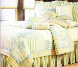 Coastal Living Beach Nautical Quilt Oversize Queen  Bedding Ensembles Brand C&F