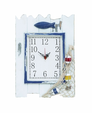 Coastal Villa Clock with Sturdy Construction - Great Seaside D�cor Brand Woodland