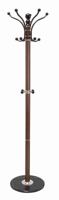 Coat Umbrella Hat Stand Rack with Marble Base in Smooth Finish Brand Woodland