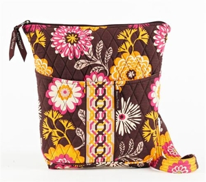 Cocoa Le Fleur Backpack - Quilted Hipster Purse By Bella Taylor Brand VHC