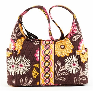 Cocoa Le Fleur Handbag - Quilted Curve Purse By Bella Taylor Brand VHC