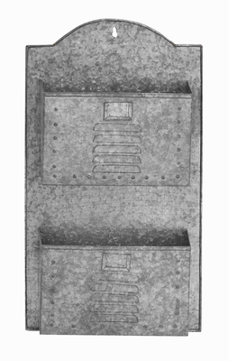 Coimbra Wall Pocket Aesthetically Galvanized Creation Brand Benzara